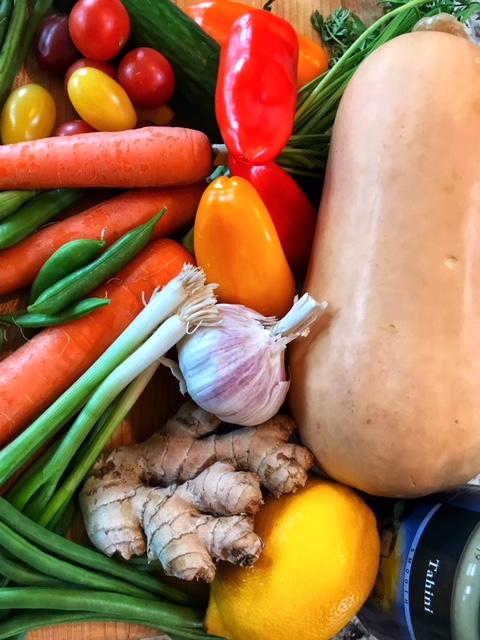 veg for hummus